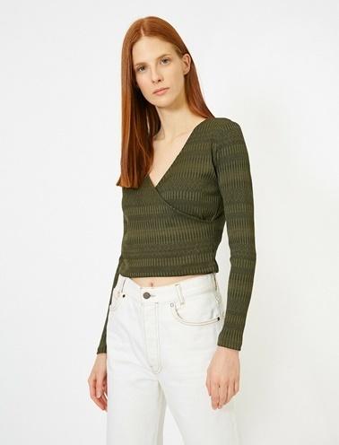 Koton Desenli T-Shirt Yeşil